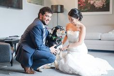 Marly & Jeremy's Boathouse Sunday Park Wedding included their best four legged friend, Maddie!