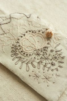 linen embroidery tea cozy | Flickr - Photo Sharing!