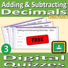 Digital Quizzes - Adding and Subtracting Numbers with Decimals | TpT