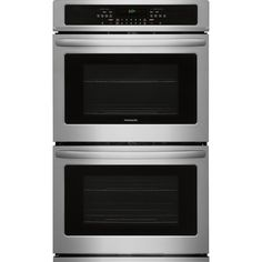 Kenmore 49533 Electric Self-Clean Double Wall Oven w/ Convection - Stainless Steel, Stainless steel Cleaning Oven Racks, Self Cleaning Ovens, Steam Cleaning, Electric Wall Oven, Flush Doors, Stainless Steel Oven, Cooking Temperatures, Heating Element, Kitchen Appliances