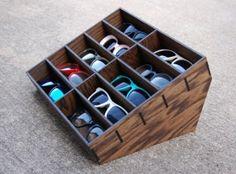 10ct Sunglasses Display Case Storage Holder Organizer Shelving Shelf 3D Glasses  Rack Oak Wood
