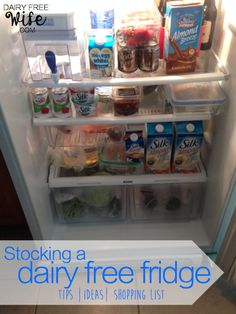 Dairy Free Grocery List - Tips and tricks for stocking a dairy free fridge and a sample dairy free grocery list and dinner guide   dairyfreewife.com