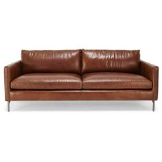 Exclusively at ABC, the Nolita Sofa pairs the contemporary design of a low-slung, linear form with the soft touch of supple leather. Locally handcrafted from a sustainable Goodwood frame and recycled metal legs, this customizable piece is an eco-conscious choice for the home. Pair with the Nolita Leather Chair.