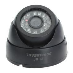 1/4 CCD Sharp Digital Dome Color IR Security Camera Black L2381