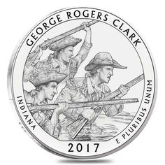 BU BANK WRAPPED QUARTER ROLL 2017-P GEORGE ROGERS CLARK ATB JUST IN!