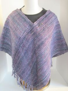 Handspun Hand Woven  Poncho by Yarnsnthreads on Etsy