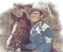 """Gene Autry (1907-98). SGT. U.S. Army Air Force WW II. The """"King of the Cowboys"""" enlisted in 1942. During the war he ferried fuel, ammunition, and arms in the China-India-Burma theater of war and flew over the Himalayas, the hazardous air route known as """"The Hump."""" When the war ended, he was reassigned to Special Services where he toured with a USO troupe in the South Pacific before resuming his movie career in 1946."""