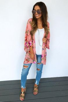 Floral For Days Cardigan: Multi