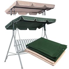 "Swing Top Cover Canopy Replacement Porch Patio Outdoor 66""x45"" 75""x52"" 77""x43""  #Goplus"