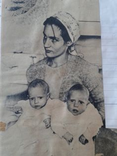 Angelica with twins Frances and Nerissa -a prized picture from my scrapbook of 1973 - must have come from a colour supplement, hope I'm not infringing anything - wonderful photograph
