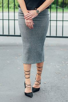 How would you style this cozy knit pencil skirt from Daisy Fuentes?