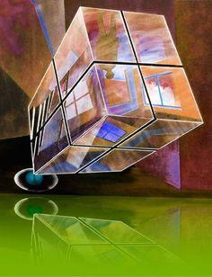 'Reflexionin grün' von Gertrude  Scheffler bei artflakes.com als Poster oder Kunstdruck $18.71