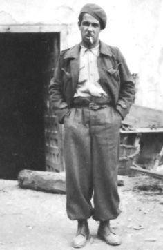 Joe Albaya, Sheffield International Brigade volunteer from Woodseats, Sheffield, 1930s    (Bill Moore Collection, Sheffield Archives: X274).  Sheffield men fought alongside the Spanish people in their struggle for democracy during the Spanish Civil War (1936 - 1939). Many men and women in Sheffield worked in support of the cause.