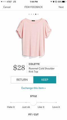 It looks like a style I want to try, and I like the light pink color yet I want some different colors in my wardrobe. Dressed To The Nines, Stitch Fix Stylist, Material Girls, Cut Jeans, My T Shirt, Types Of Fashion Styles, Style Me, Style Inspiration, Style Ideas