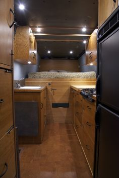 Sprinter DIY conversion by Allen Sutter, looking towards the rear
