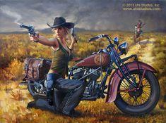 Harley-Davidson art, motorcycle art, aviation art, auto art   Uhl Studios