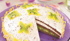rezept-Kiwi-Torte Kiwi, Biscuits, Pudding, Eggs, Sweets, Baking, Breakfast, Desserts, Food