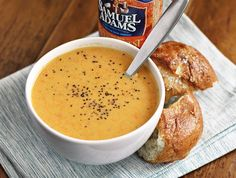 Beer and Cheese Soup. Making this for dinner ASAP!!