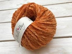 Chenille Yarn with Lurex Made in Italy Star - Orange