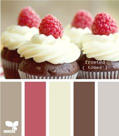 coral and chocolate brown  love this color scheme for the baby room :)