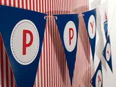 Nautical - Happy Birthday Banner - Birthday Boy - Custom Printable - psDre Party Printables. €4,50, via Etsy.