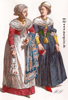 München: Bürgerinnen, um 1820 und 1780
