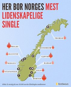 Her bor Norges mest  lidenskapelige  single - Kilde: Et utvalg på over 30.000 norske EliteSingles-medlemmer