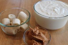 Dog Ice Cream: 1 quart plain yogurt  2 bananas  1/2 cup peanut butter; food processor and freeze in portions