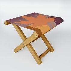 Fall Colour Folding Stool by vanid Patterned Furniture, Folding Stool, When It Rains, Kick Backs, Table Cards, Cold Drinks, Picnic Table, Drafting Desk, Stools