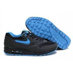 Mens Nike Air Max 1 Black Blue Shoes