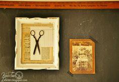 For displaying mom & dad memorabilia. Mixed Media Art Photo Frames