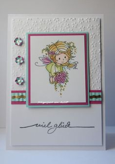 blog.karten-kunst.de - Viel Glück..Wee Stamps Flower Fairies, Karten-Kunst Viel Glück