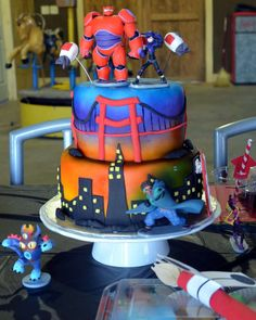 Awesome cake at a Big Hero 6 birthday party! See more party ideas at CatchMyParty.com!