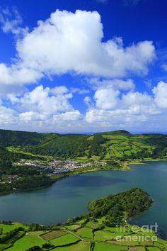 Sete Cidades, Sao Miguel Island,  Azores, Portugal