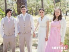 Our Wedding Photos, taken in Sydney's Centennial Park by Sydney Wedding Photographer, Lucie Zeka - www.luciezeka.com (Find out all of the details at the post link) Bridal Party - our rustic vintage themed wedding