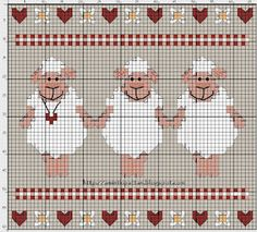 sheeps - cross stitch chart
