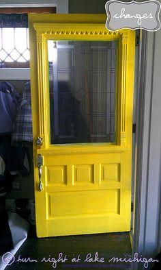 my bright yellow front door, in progress.