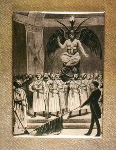 This is a Drawing of Baphomet a Freemason and Knights Templar diety. It was the worship of Baphomet that was one of the reasons why the Rom. Baphomet, Aleister Crowley, Les Runes, Rose Croix, Satanic Art, Occult Art, Freemasonry, Knights Templar, Dark Art