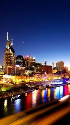 Nashville At Night , Tennessee