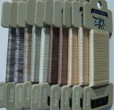 Mixed Neutrals Collection  4mm Silk Ribbon by lornabateman22, $56.95
