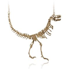 A darling dinosaur skeleton necklace. | 21 Awesome Products From Amazon To Put On Your Wish List