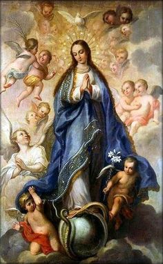 This day is the Holy Virgin Mary conceived without sin.R.The Virgin's foot hath bruised the serpent's head.