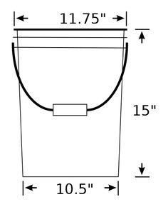 5 gallon bucket dimensions - Google Search