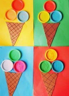 zmrzliny z PET víček Kindergarten Crafts, Daycare Crafts, Classroom Crafts, Toddler Crafts, Preschool Crafts, Kids Crafts, Summer Crafts For Kids, Spring Crafts, Art For Kids