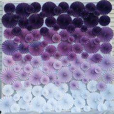 purple pinwheel backdrop - ombre | http://emmalinebride.com/decor/best-ombre-wedding-ideas/
