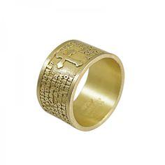 Anel Oração Pai Nosso Ref.: Q.10.7185D_R Categorias: Marcas: Eugénio Campos Disponível Prata 925 / Banho de Ouro    Preço: 95.95 €  c/ IVA