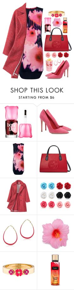 """10.12.16-2"" by malenafashion27 on Polyvore featuring Benefit, Dee Keller, Damsel in a Dress, Gucci and Kate Spade"