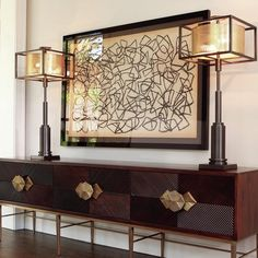 A natural brown finish shows off the quality of the Global Views Galapagos Media Cabinet 's wood design. The brass frame features a weathered look. Luxury Home Decor, Luxury Homes, Media Cabinet, Entryway Decor, Foyer, Home Furnishings, Living Room Decor, Living Spaces, Dining Room