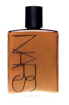 NARS Body Glow: A blend of sheer, delicately scented Tahitian Monoï oil and a warm chocolate shimmer. $59 #NARS #Beauty
