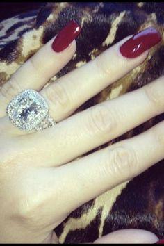 Khloe Kardashian's engagement ring from Lamar Odem.